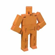 Areaware DWC4O Micro Cubebot Wooden Toy - Orange