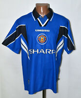 MANCHESTER UNITED 1996/1997/1998 THIRD FOOTBALL SHIRT JERSEY UMBRO SIZE L ADULT