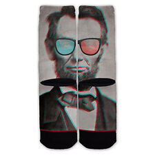 Function - Abe Lincoln 3d Glasses Fashion Socks Abraham President Money Retro