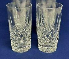 Waterford Crystal LISMORE 12 oz HiBall Tumbler HIGHBALL GLASS Set of 2 Signed