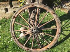 Antica Ruota Carro Legno E Ferro Diametro Cm 80 Circa