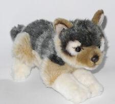 Neuware wunderschöner liegender  Wolf ca. 21cm lang