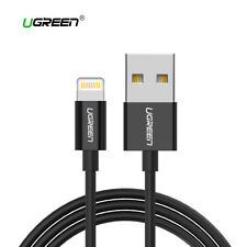 Cable USB lightning para iPhone UGREEN certificado MFI Apple 2.4A negro 1M 2M