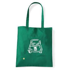 Art T-shirt, Borsa shoulder 500 Fiat, Verde, Shopper, Mare