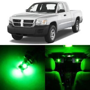 15 x Ultra Green Interior LED Lights Package For 1997- 2010 Dodge Dakota +TOOL