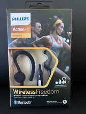 Philips ActionFit Wireless Bluetooth Sport Earphones - Black (SHQ7800BK/27) NEW