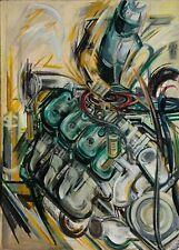 """Elisabeth Bieneck-Roos , """"ARBEIT UND MOTOR""""  Gemälde, SEHR EXPRESSIV, 100 x140cm"""