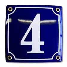 Hausnummer Hausnummernschild Emaille 12x12 cm mit Wunschnummer Premiumqualität