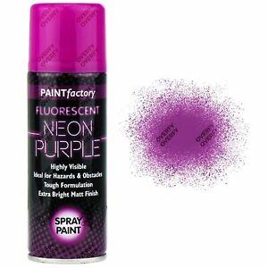 NEW Fluorescent Neon Purple Spray Paint Matt Auto Car Creative Paint 200ml UK