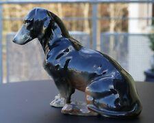 """Ens Volksted Porzellan Tierfigur """" Dackel """" handgemalt um 1930 !!!"""