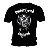 Motorhead T Shirt England Official Mens Black Tee Everything Louder Lemmy NEW