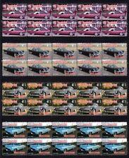 1957 THUNDERBIRD AUTO ICONS SET OF 4 MINT VIGNETTE STAMP STRIPS
