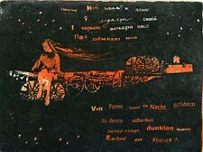 """""""The  Night""""  Ex libris Etching by Sofia Piskun, Ukraine"""