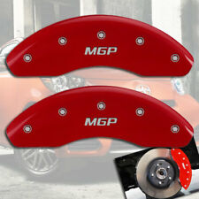 """2008-2014 Scion xD Front Red Engraved """"MGP"""" Brake Disc Caliper Covers 2pc Set"""