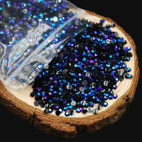 LOts 2000 3D Round AB Rhinestone Acrylic Nail Art Glitter Crystal Decorations