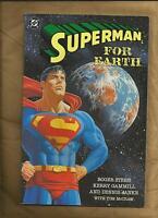 Superman for Earth VFN/NM 1991 Graphic Novel format DC Comics US Comics