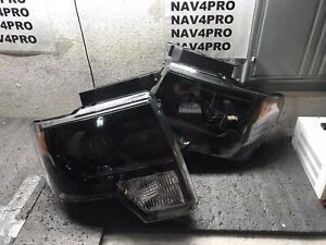2009-2014 Ford F-150 F150 Black Projector Halogen Headlight Pair #H176