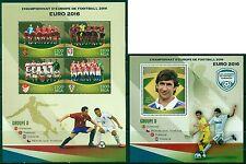 Football Soccer EURO 2016 Spain Turkey Croatia Czech Rep. MNH stamp set 4val+ss