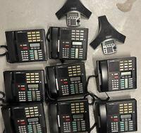 Lot Of 10 Norstar Nortel Meridian M7310 Phone & Polycom Soundstation IP5000 Used