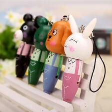 Gift Mobile Phone Pendant Toys Chain Creative Wooden Animal Head Pen Key Chain