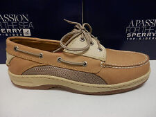 SPERRY TOP SIDER MENS BOAT SHOE BILLFISH 3-EYE TAN BEIGE SIZE 10.5 Wide