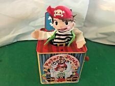Peter Pirate SCHYLLING Jack-In-The-Box Musical Metal Tin VGC PRESCHOOL DAYCARE