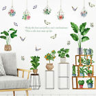 Removable Turtle Leaf Plants Potted Wall Sticker Mural Wall Decal Home Decor Diy