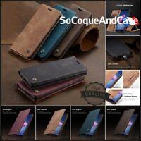 Etui Coque Housse CASEME Cuir PU Leather Wallet Case Huawei P Smart Collection