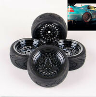 RC 1:10 4PS Rubber Tyre Tire & Wheel For HSP HPI RC Model On-Road Racing Car