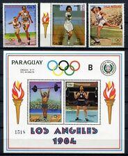 PARAGUAY 1983 Olympiade Olympics Los Angeles 1984 3629-3631 + Block 388 ** MNH