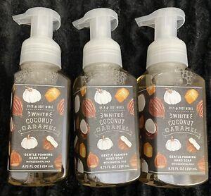 "LOT OF (3)- Bath & Body Works ""WHITE COCONUT CARAMEL"" Foaming Hand Soap"