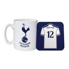 Personalised TOTTENHAM HOTSPUR FC MUG and COASTER Set Football Club Spurs