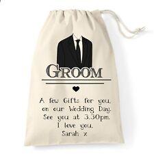 Groom Wedding Gift Bag | Wedding Suit Design | Personalised