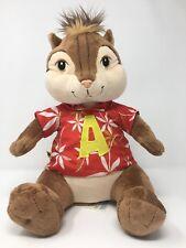 Build A Bear Workshop Alvin and the Chipmunks Plush Doll Red Hawaiian Shirt