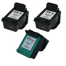 2X HP 92+HP 93 Reman Ink Cart 260% More Ink Deskjet 5420, 5420v,5438 5440, 5440v