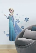 DISNEY FROZEN ELSA GLITTER LARGE WALL DECAL APPLIQUES -  STICKERS, SNOWFLAKES