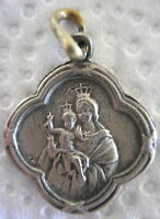 OUR LADY OF THE ORCHARD & THE SACRED HEART OF JESUS VERY OLD DOUBLE SIDE MEDAL