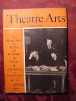 THEATRE ARTS August 1941 PLAYS and PLAYERS 1916-1941