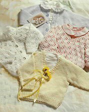 """Childs Cardigans Sweaters Knitting Pattern Double Knitting 18-22"""" DK  359"""