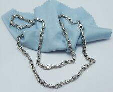 Gorgeous 14K Karat Solid White Gold Designer Anchor Link Chain Necklace - Nice!