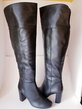 sz 9 NEW TORY BURCH boots black Bowie OTK Over-the-Knee heel pull-on womens