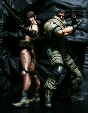 PLAY ARTS Kai METAL GEAR SOLID V THE PHANTOM PAIN Snake & Quiet Figure set F/S