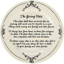 "The Giving Plate Sharing Serving Dish Apropos 10.5"" D Ceramic White"