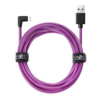 JuicEBitz® 20AWG USB to Micro USB 90 Degree L Shape FAST Charger Data Cable Lead