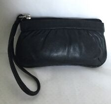 CELLINI Black Lamb Skin Leather Wristlet/ Clutch Bag / Handbag