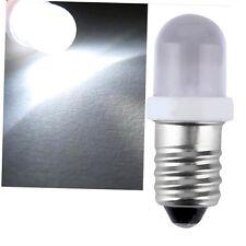 E10 LED Screw Base Indicator Bulb Cold White 6V DC Illumination Lamp Light yo