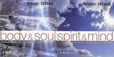 BODY & SOUL ~ SPIRIT & MIND - 2 DISCS - SUNDAY EXPRESS PROMO MUSIC CD