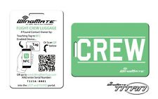 NFC Passive Tracking Luggage Tag by WingMate! Airline Flight Crew Tag. GREEN