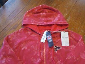 NWT New Women's Large Tommy Bahama Atlanta Falcons Full-Zip Hoodie Sweatshirt
