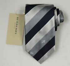 """NEW Burberry BLUE Stripes Mans 100% Silk Tie Authentic Italy Made 3.5"""" 0350149"""